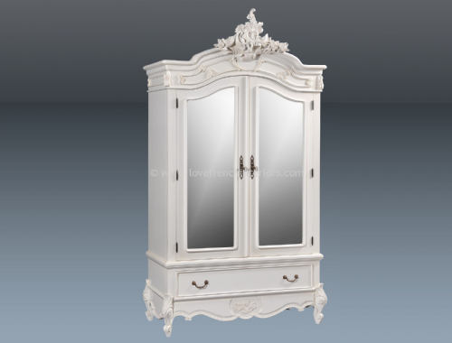 Louis Mirrored Double Armoire